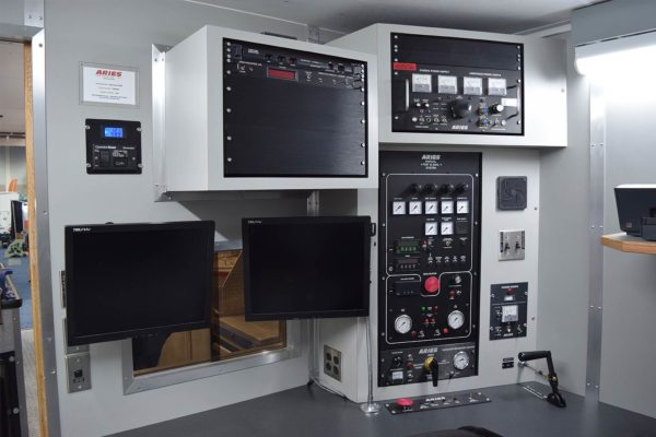 grouting truck control room
