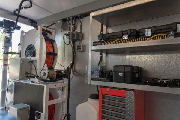 truck interior storage